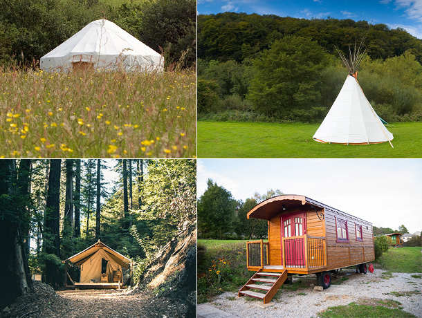 Glamping in een yurt, tipi, safaritent of pipowagen